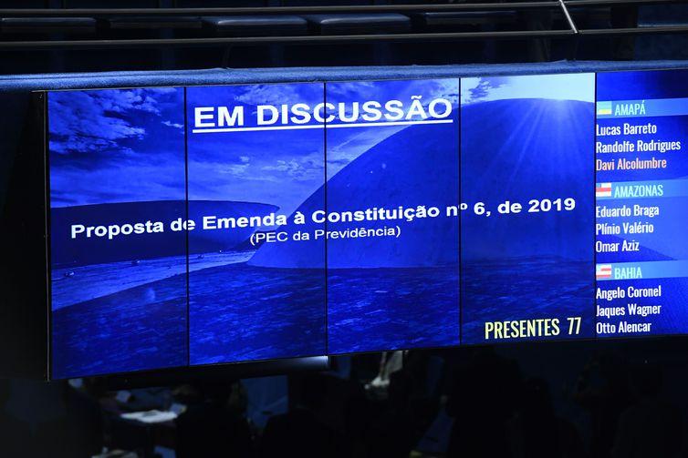 Plenário vota, em 1° turno, a reforma da Previdência (PEC 6/2019).