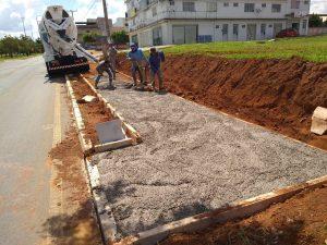 Implantação de Calçadas em Samambaia - Foto: Django de Sousa